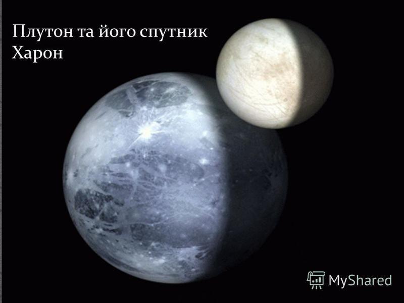 Плутон та його спутник Харон