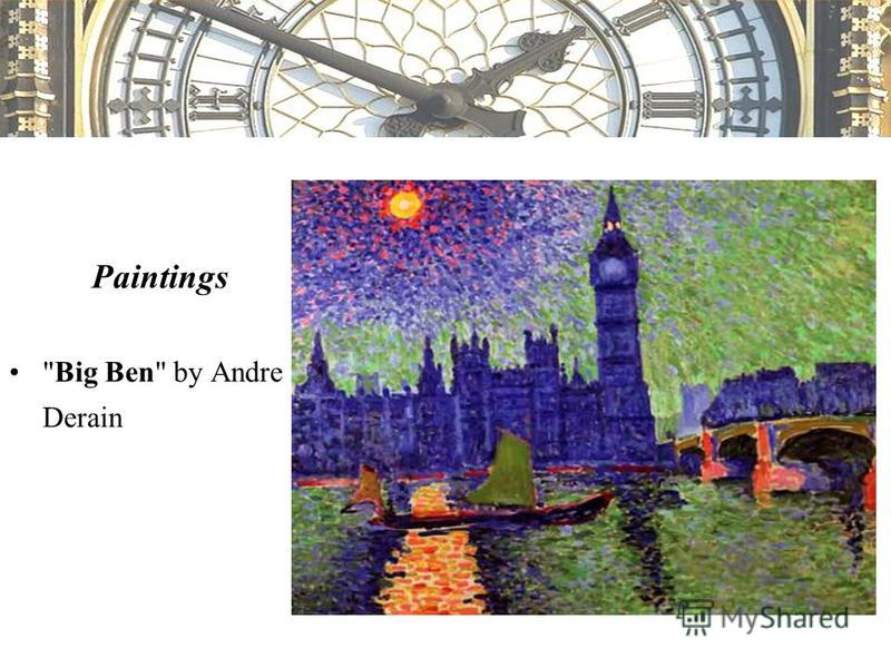 Paintings Big Ben by Andre Derain