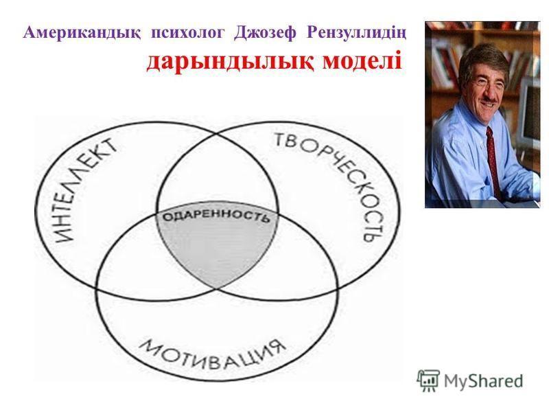 Американдық психолог Джозеф Рензуллидің дарындылық моделі
