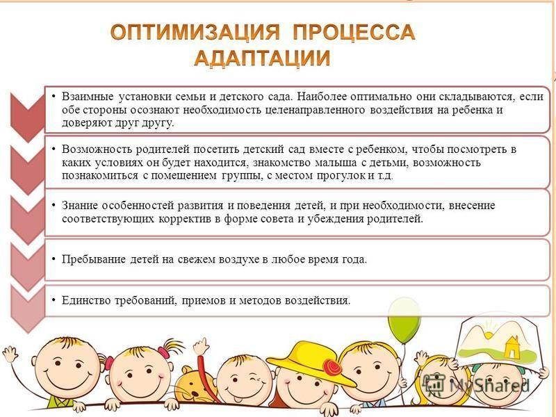 Взаимные установки семьи и детского сада. Наиболее оптимально они складываются, если обе стороны осознают необходимость целенаправленного воздействия на ребенка и доверяют друг другу. Возможность родителей посетить детский сад вместе с ребенком, чтоб