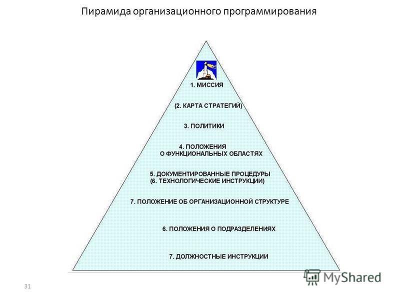 31 Пирамида организационного программирования