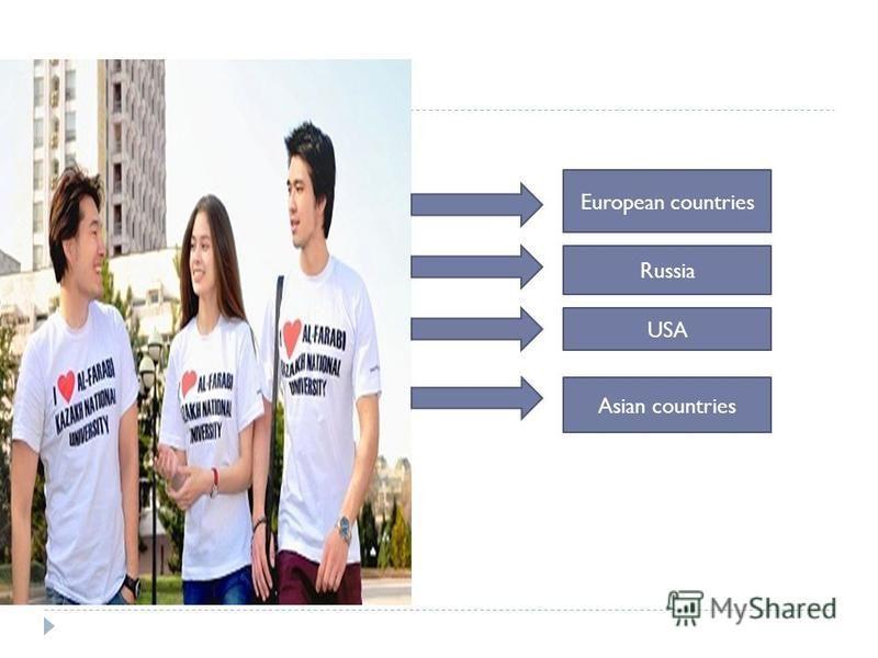 European countries Russia USA Asian countries