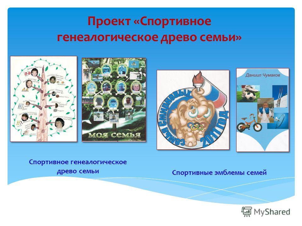 Проект «Спортивное генеалогическое древо семьи» Спортивное генеалогическое древо семьи Спортивные эмблемы семей
