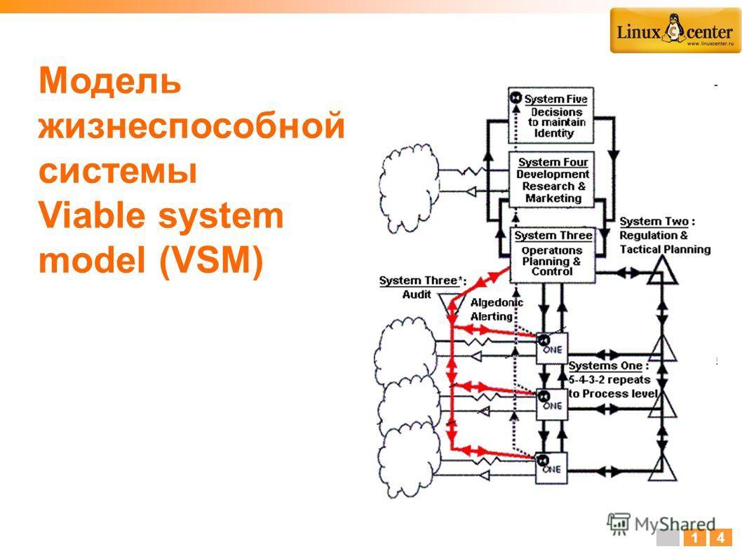Модель жизнеспособной системы Viable system model (VSM) 14