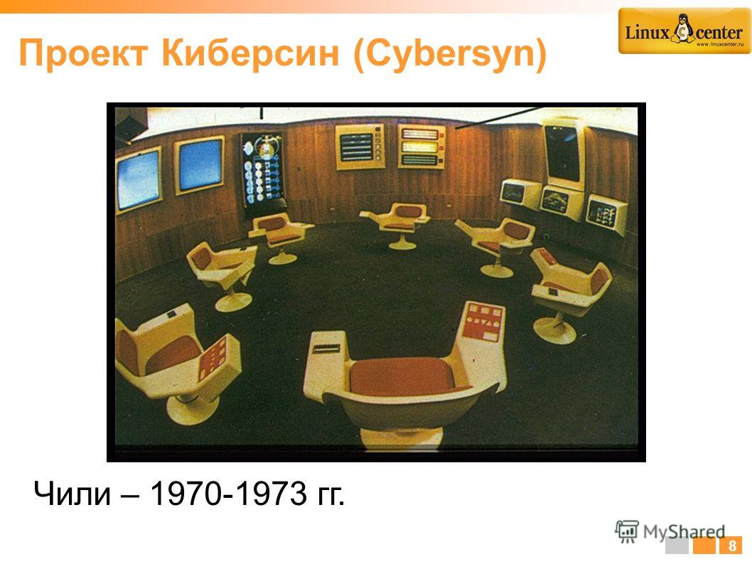 Чили – 1970-1973 гг. 8 Проект Киберсин (Cybersyn)