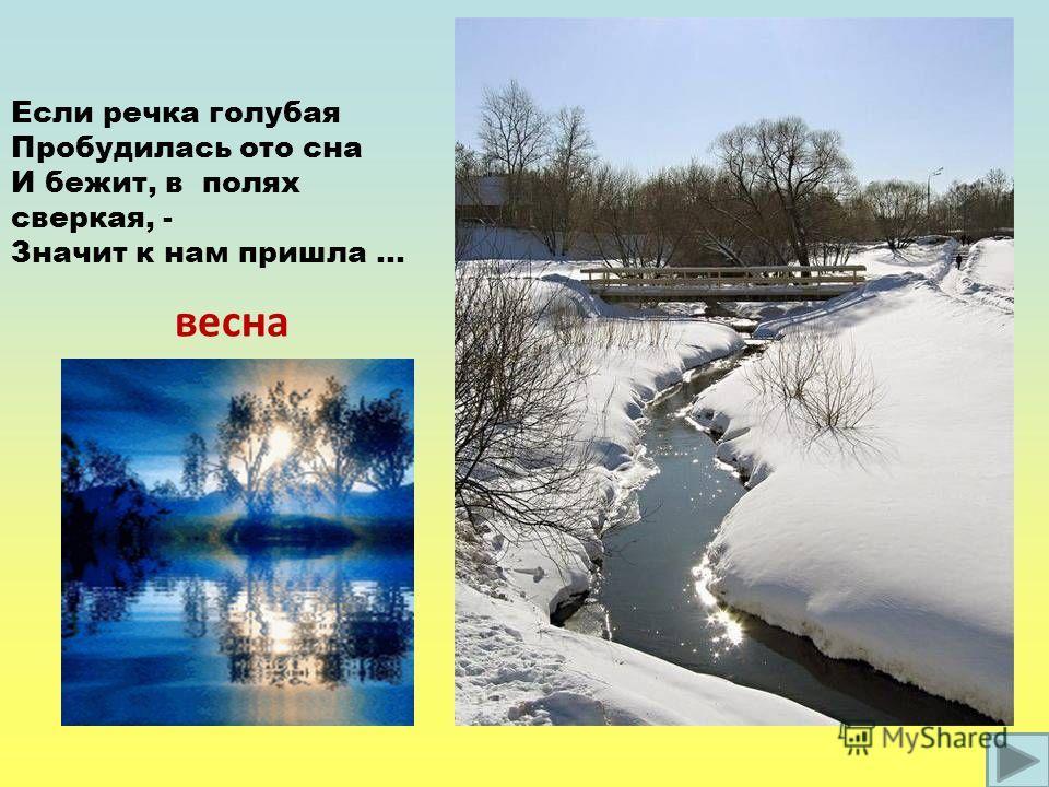 Презентация на тему Март начало весны Сочинение в классе  4 Если речка голубая Пробудилась ото сна И бежит в полях сверкая Значит к нам пришла весна