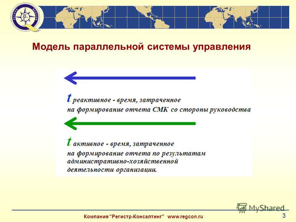 Компания Регистр-Консалтинг www.regcon.ru 3 Модель параллельной системы управления