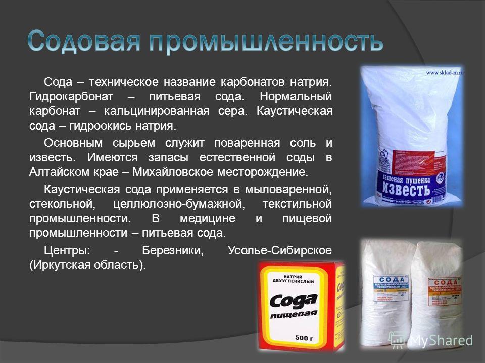 сода питьевая фото