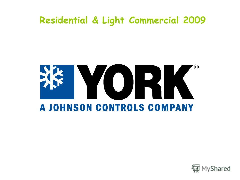 Residential & Light Commercial 2009