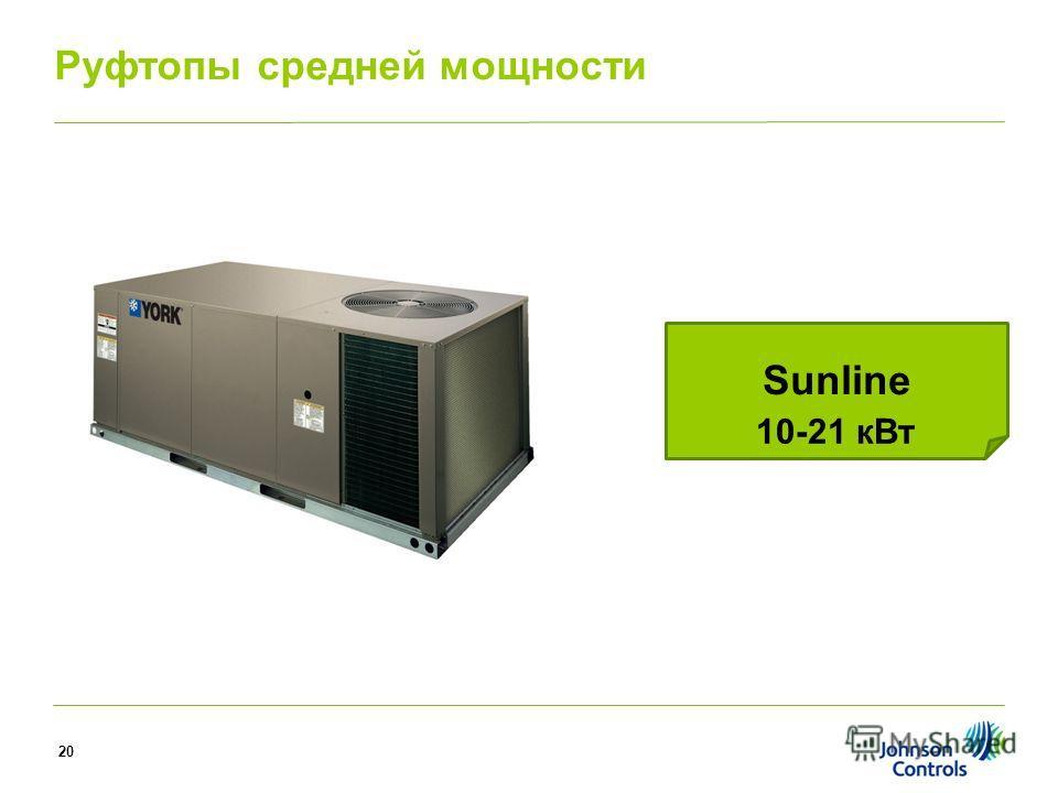Sunline 10-21 к Вт Руфтопы средней мощности 20