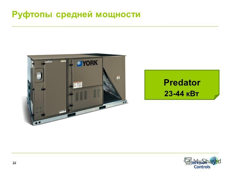 Predator 23-44 к Вт Руфтопы средней мощности 22