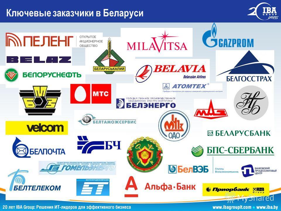 Ключевые заказчики в Беларуси