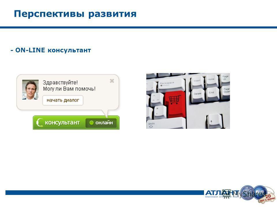 - ON-LINE консультант Перспективы развития
