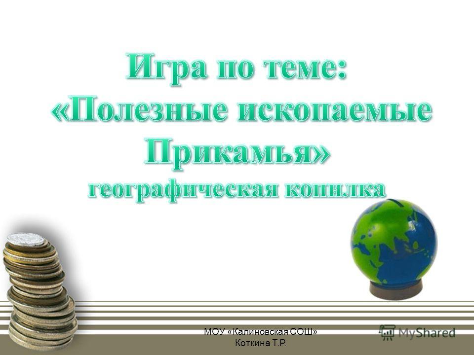 МОУ «Калиновская СОШ» Коткина Т.Р.