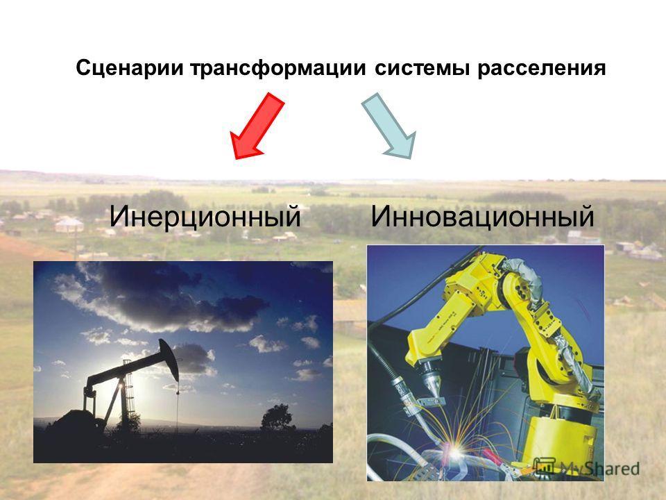 Сценарии трансформации системы расселения Инерционный Инновационный