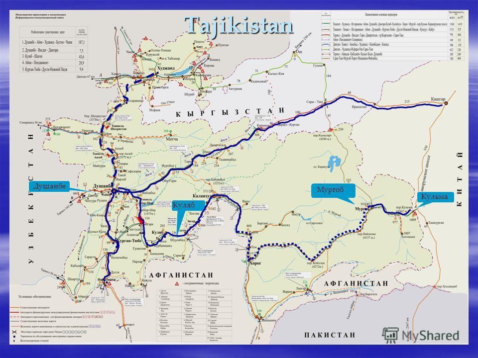Tajikistan Душанбе Куляб Мургоб Кульма