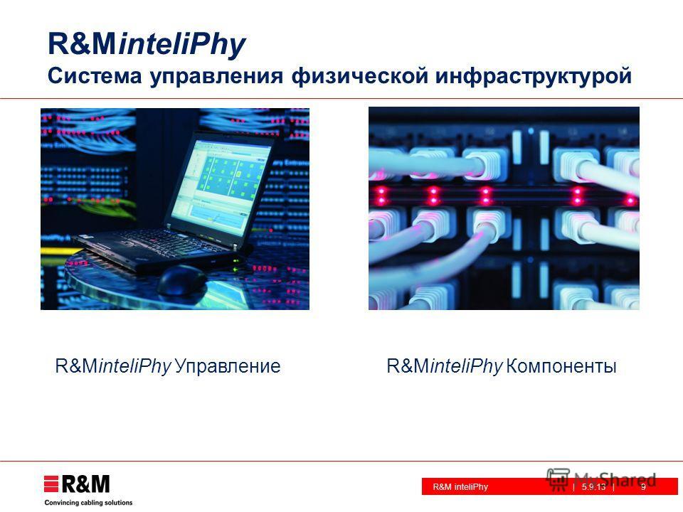 R&M inteliPhy| 5.9.13 | R&MinteliPhy Система управления физической инфраструктурой R&MinteliPhy УправлениеR&MinteliPhy Компоненты 9