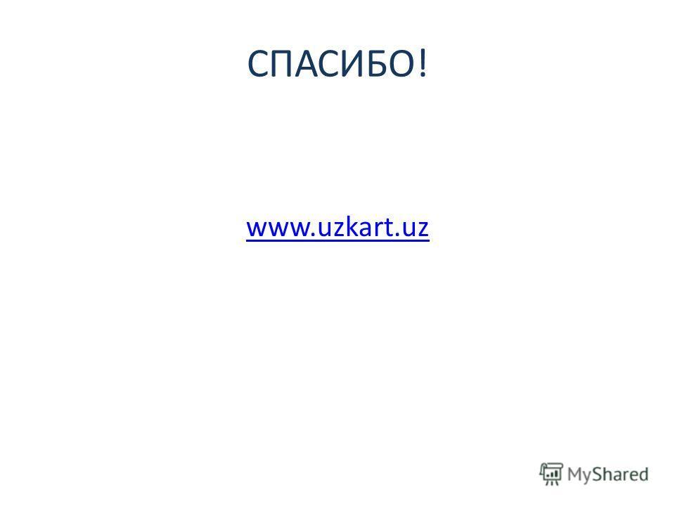 СПАСИБО! www.uzkart.uz