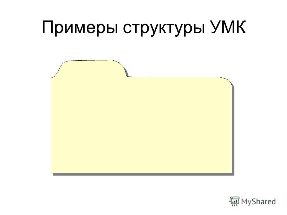 Примеры структуры УМК