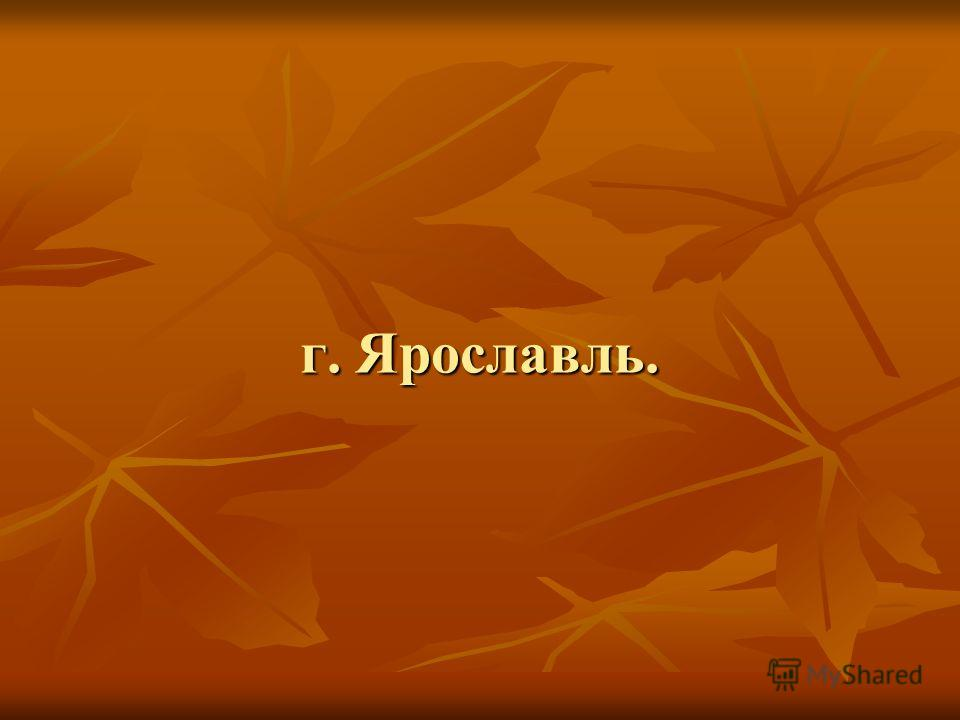 г. Ярославль.