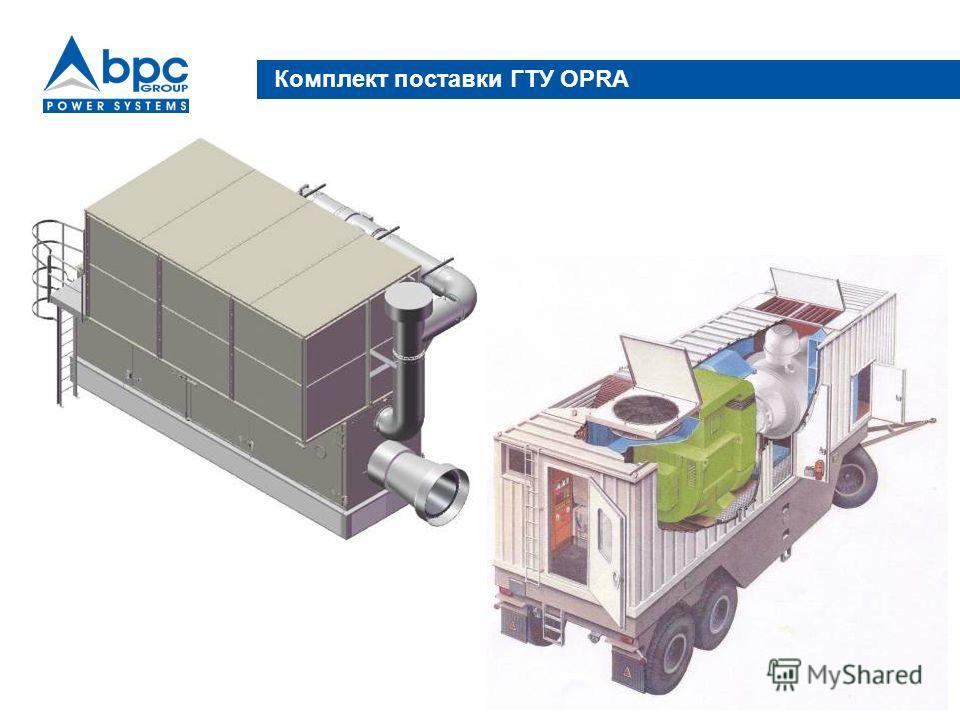 Комплект поставки ГТУ ОРRA