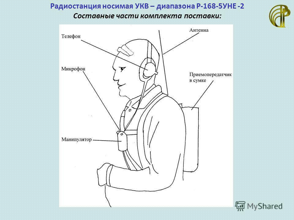 Радиостанция носимая УКВ – диапазона Р-168-5УНЕ -2 Составные части комплекта поставки: