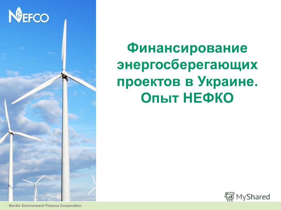 Финансирование энергосберегающих проектов в Украине. Опыт НЕФКО