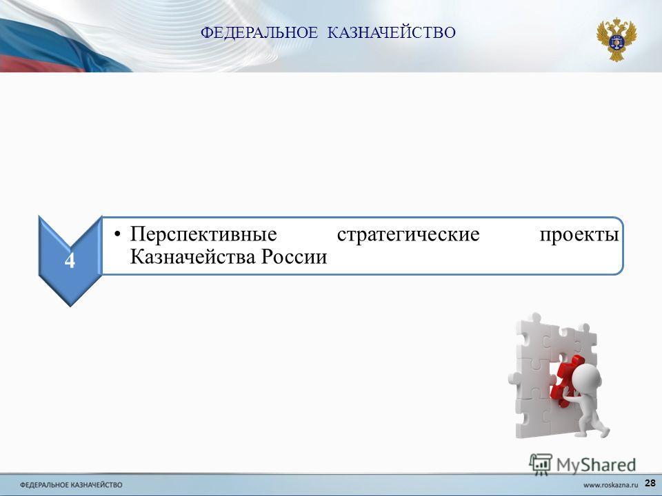 28 4 Перспективные стратегические проекты Казначейства России ФЕДЕРАЛЬНОЕ КАЗНАЧЕЙСТВО