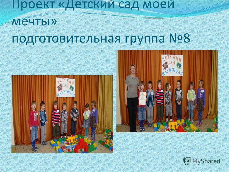 Проект «Детский сад моей мечты» подготовительная группа 8