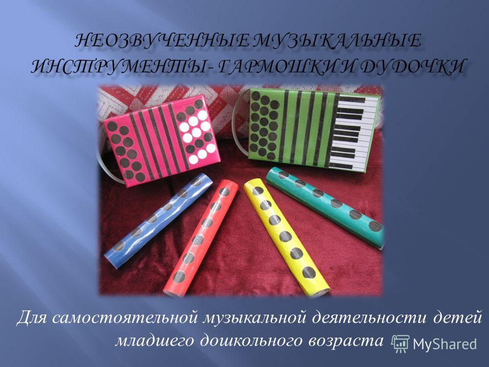 Для самостоятельной музыкальной деятельности детей младшего дошкольного возраста