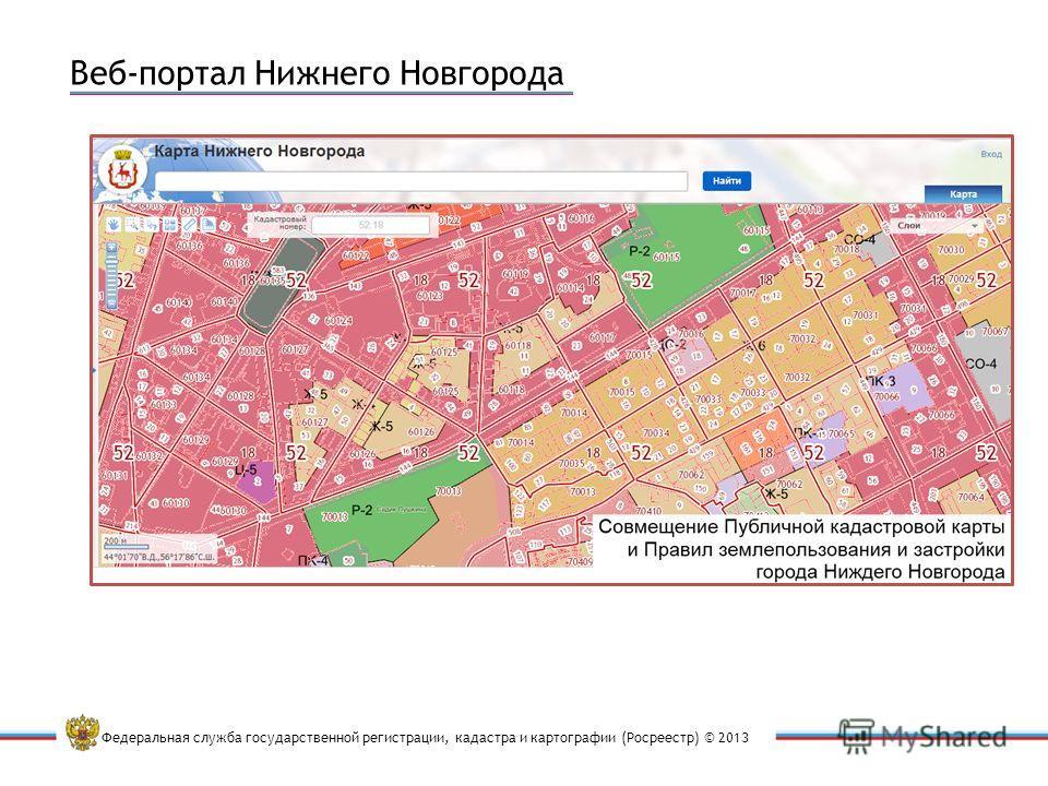 Федеральная служба государственной регистрации, кадастра и картографии (Росреестр) © 2013 Веб-портал Нижнего Новгорода