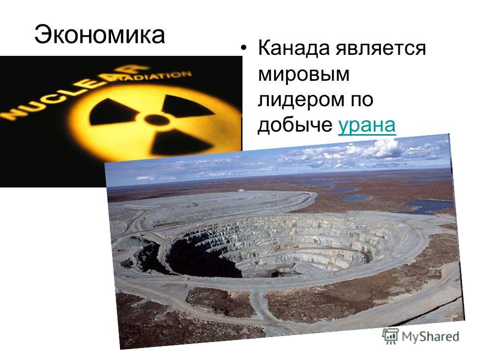 Экономика Канада является мировым лидером по добыче уранаурана