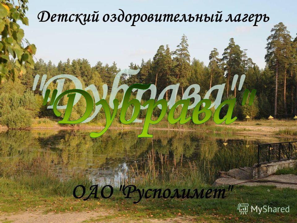 Детский оздоровительный лагерь ОАО Русполимет