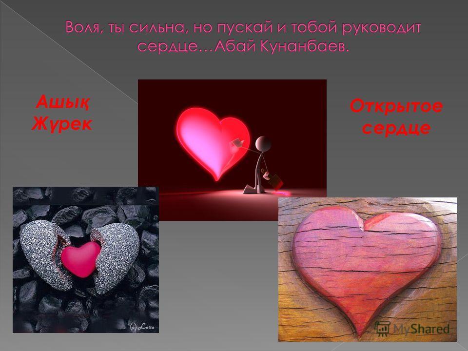 Ашы қ Ж ү рек Открытое сердце