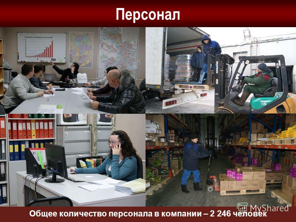 Персонал Общее количество персонала в компании – 2 246 человек