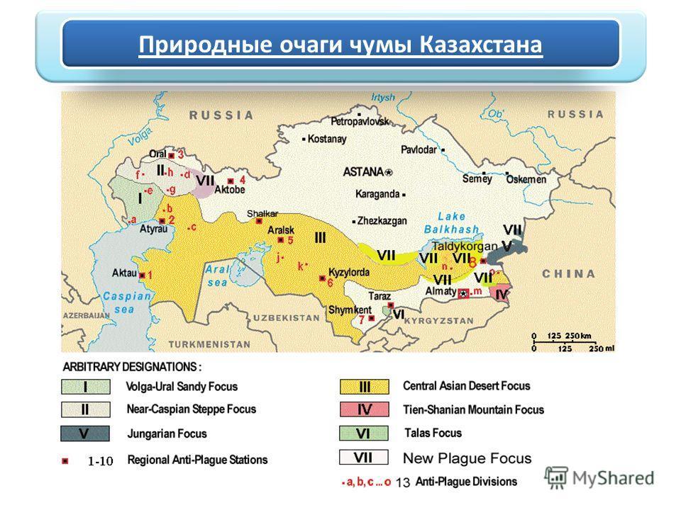 Природные очаги чумы Казахстана