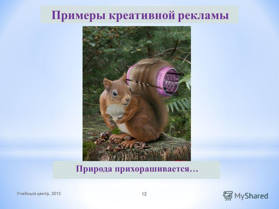 Учебный центр, 2013 12 Примеры креативной рекламы Природа прихорашивается…