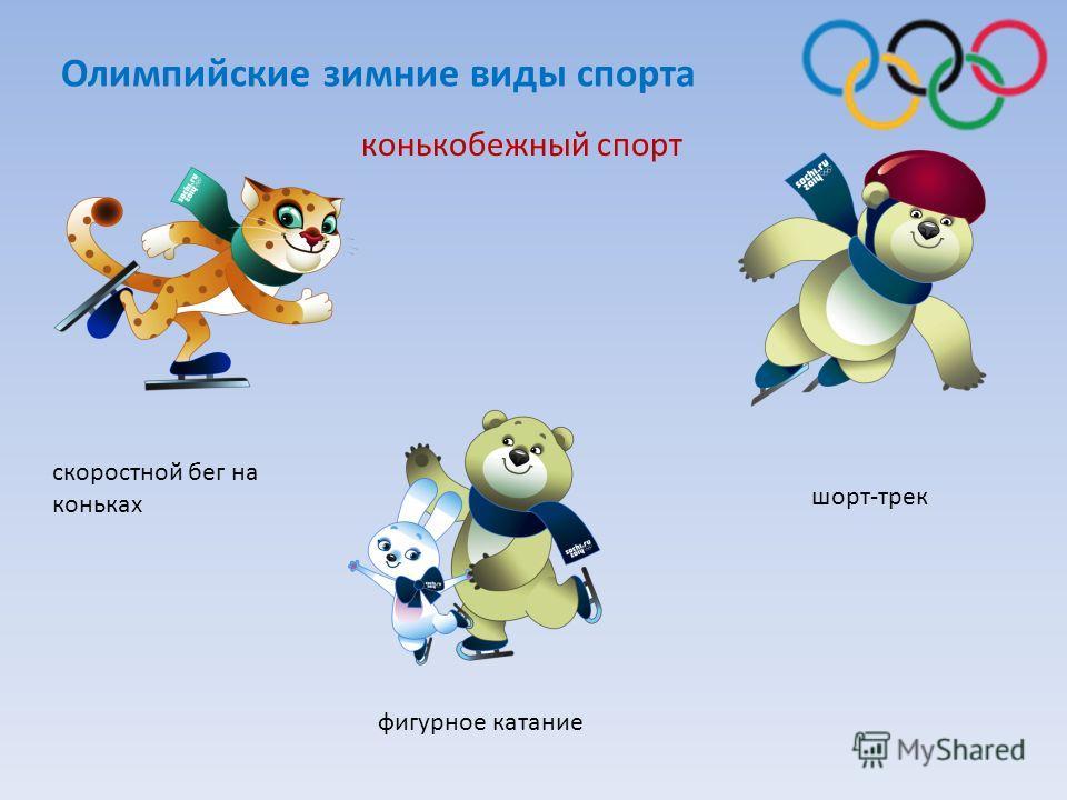 конькобежный спорт фигурное катание шорт-трек скоростной бег на коньках Олимпийские зимние виды спорта