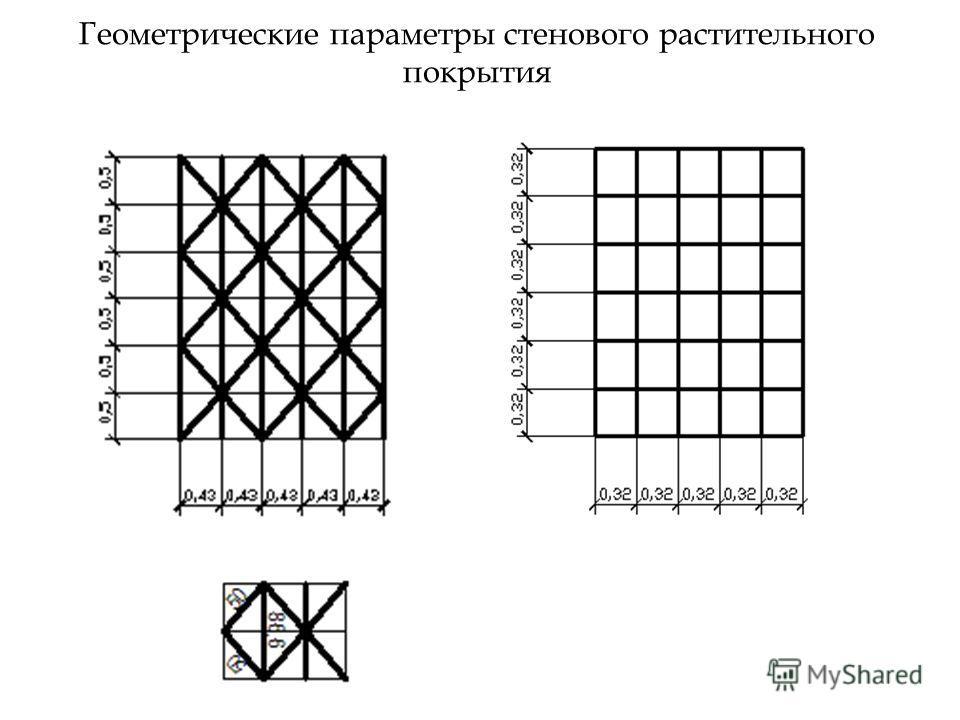 Геометрические параметры стенового растительного покрытия