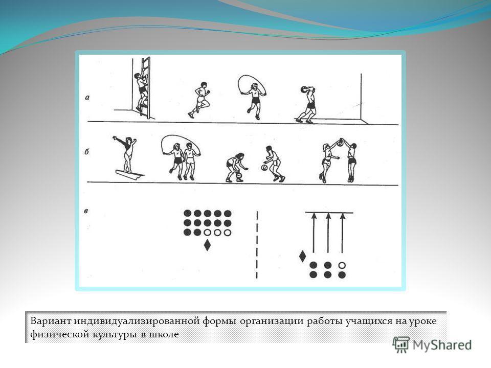 Вариант индивидуализированной формы организации работы учащихся на уроке физической культуры в школе