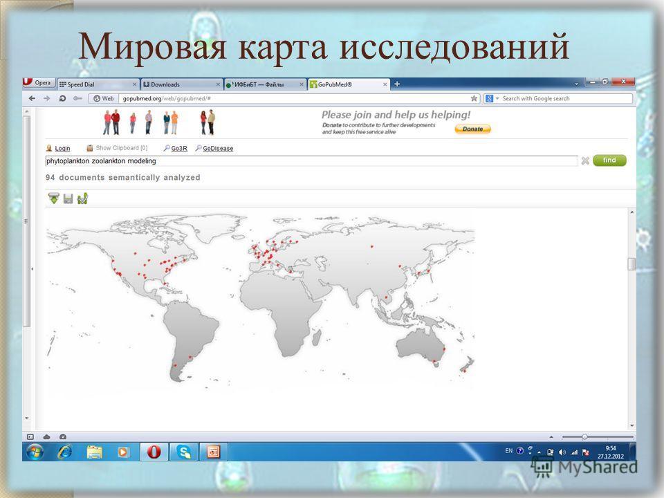 Карта мира Мировая карта исследований