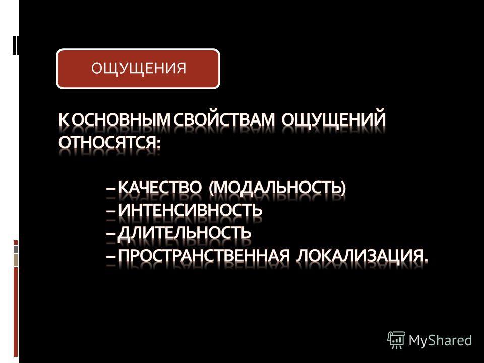 ОЩУЩЕНИЯ
