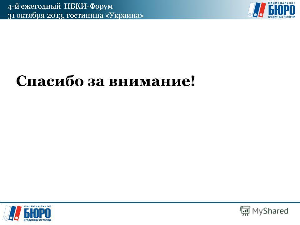 4-й ежегодный НБКИ-Форум 31 октября 2013, гостиница «Украина» Спасибо за внимание!