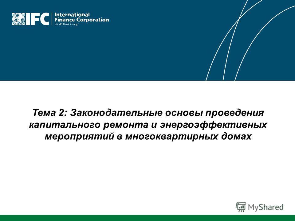 Тема 2: Законодательные основы проведения капитального ремонта и энергоэффективных мероприятий в многоквартирных домах