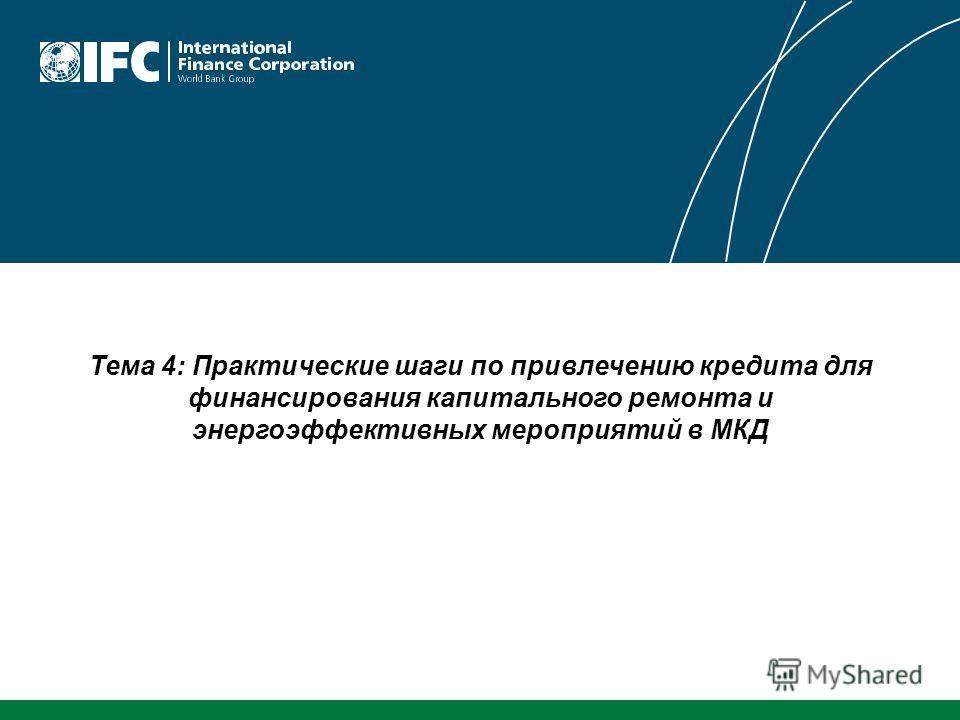 Тема 4: Практические шаги по привлечению кредита для финансирования капитального ремонта и энергоэффективных мероприятий в МКД
