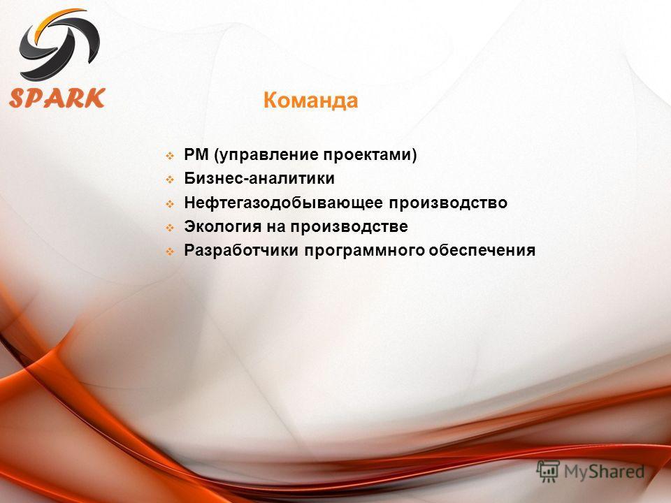 PM (управление проектами) Бизнес-аналитики Нефтегазодобывающее производство Экология на производстве Разработчики программного обеспечения Команда