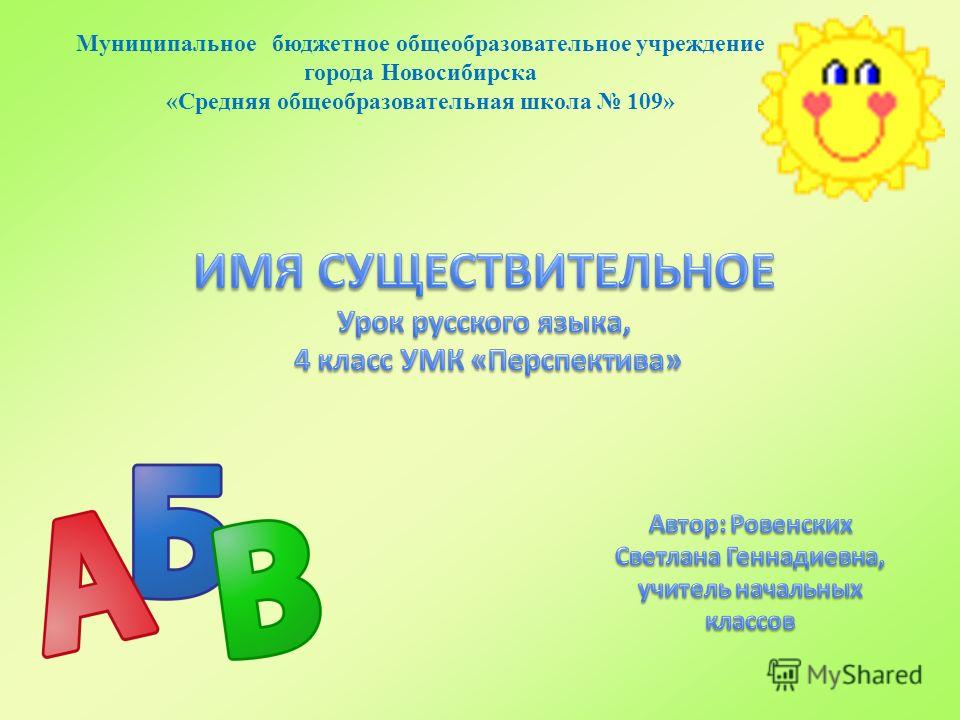 Муниципальное бюджетное общеобразовательное учреждение города Новосибирска «Средняя общеобразовательная школа 109»