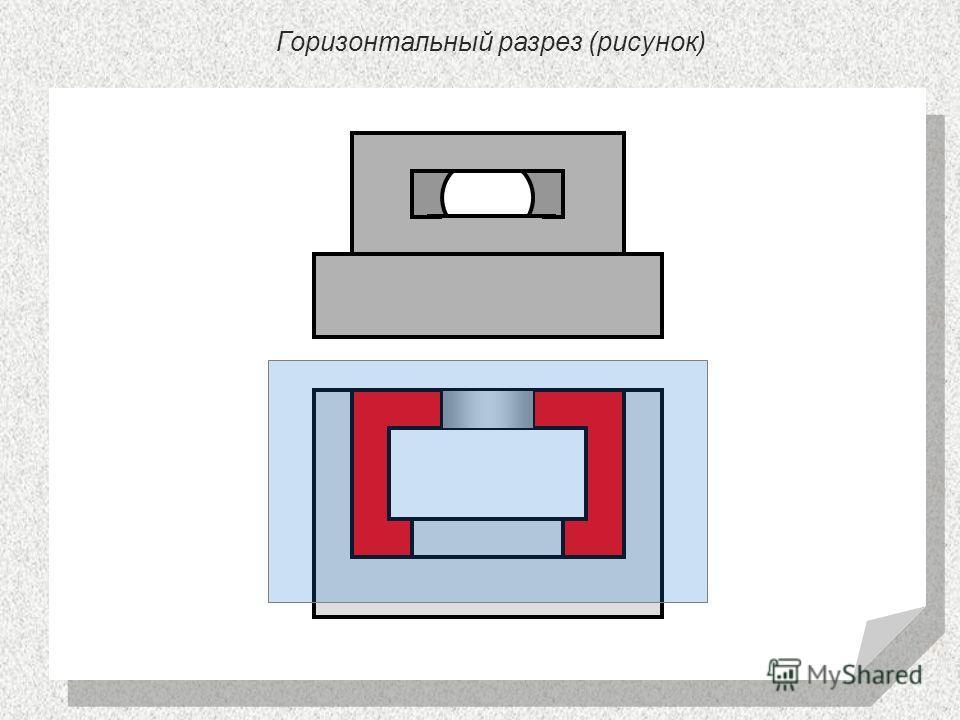 Горизонтальный разрез (рисунок)