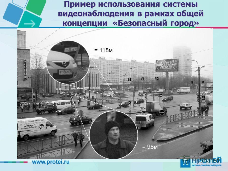 Пример использования системы видеонаблюдения в рамках общей концепции «Безопасный город»