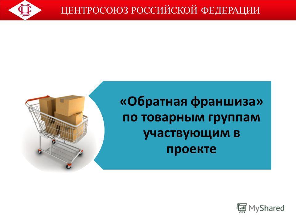 ЦЕНТРОСОЮЗ РОССИЙСКОЙ ФЕДЕРАЦИИ «Обратная франшиза» по товарным группам участвующим в проекте